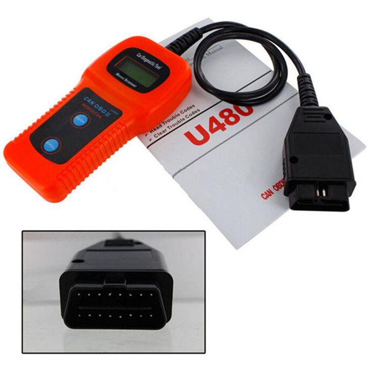 New U480 OBD2 Can-Bus Engine Code Reader Scaner 16 Pin U480 OBDII Code Reader Diagnostic Engine Scanner For Auto Car Truck #Affiliate
