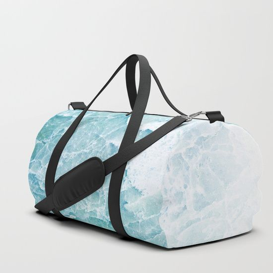 Sea Dream Marble - Aqua and blues Duffle bag by Dominique Vari | Society6 | #luggage #travel #dufflebag #sportbag #beautiful #marble #sea #pastels #modern #society6 #dominiquevari