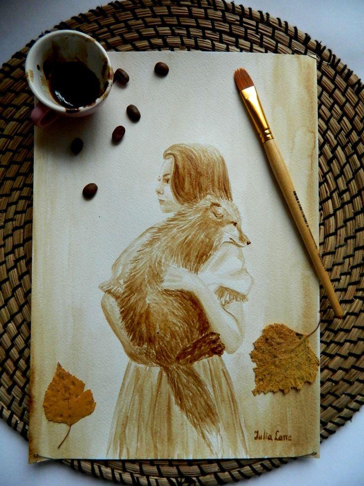coffee paint Julia Latte — Julia Latte кофейные рисунки и живопись