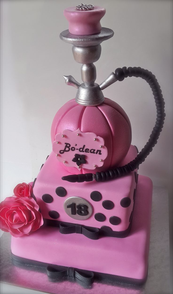 Pink Hubbly Bubbly Celebration Cake | Cupcake Columbia's Custom ...