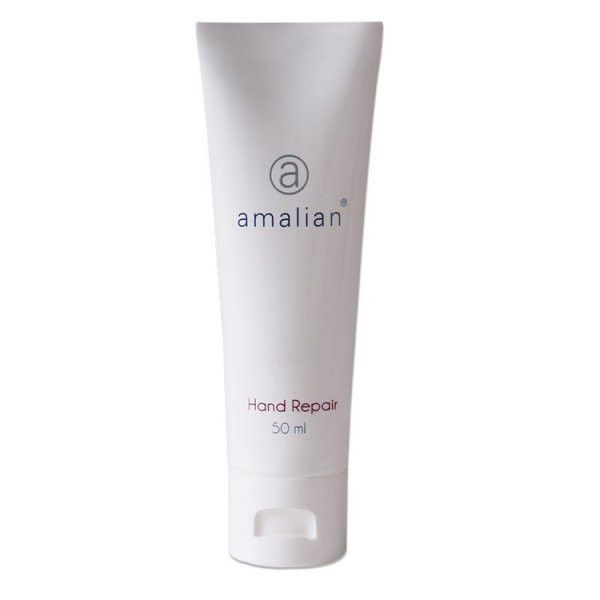 amalian® Hand Repair is a non-greasy formula derived of Hyaluronic Acid and natural active ingredients, used to restore moisture balance and repair damaged skin whilst relieving dry skin