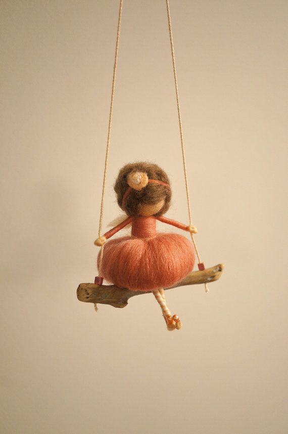 Needle felted fairy figurine by DORIMU on Etsy, $45.00