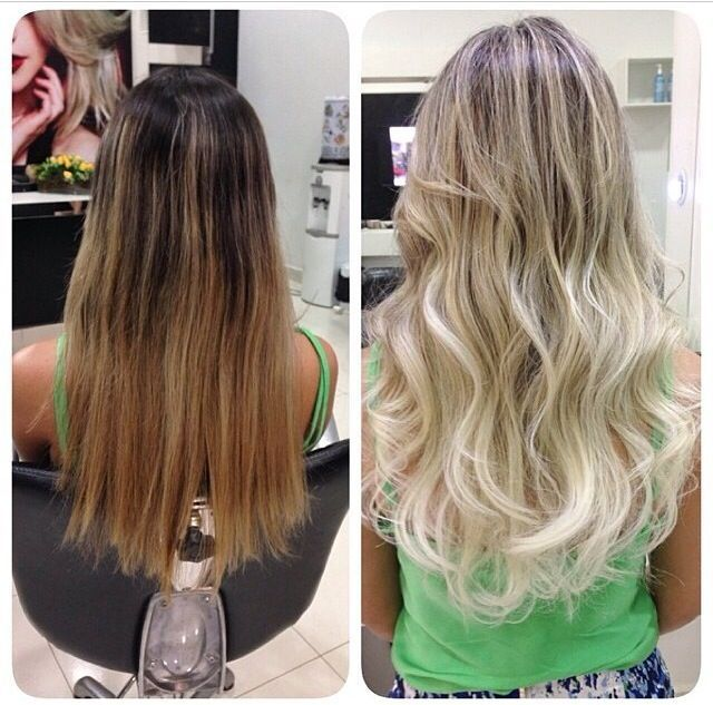 light brown to platinum blonde sombre - Google Search