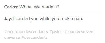 incorrect disney's descendants quotes: Jay & Carlos (jaylos)