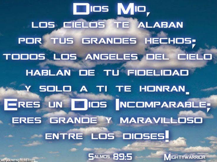 """JESUS PODEROSO GUERRERO: Salmos 89:5~~~"""" Eres un Dios Incomparable """""""