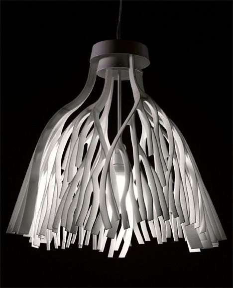 A pendant lamp inspired by the branches of a tree