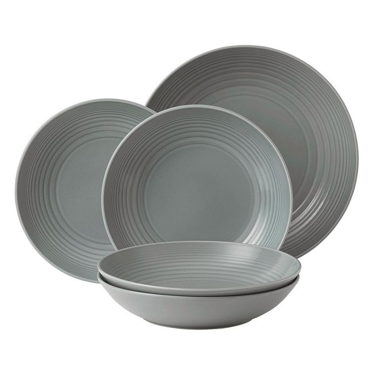 Royal Doulton Gordon Ramsay Maze 5-pc. Pasta Bowl Set, Dark Grey