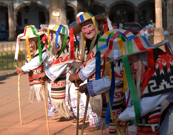 """Danza de los viejitos en Morelia, Michoacan...""""Dance of the old men""""...traditional dance"""