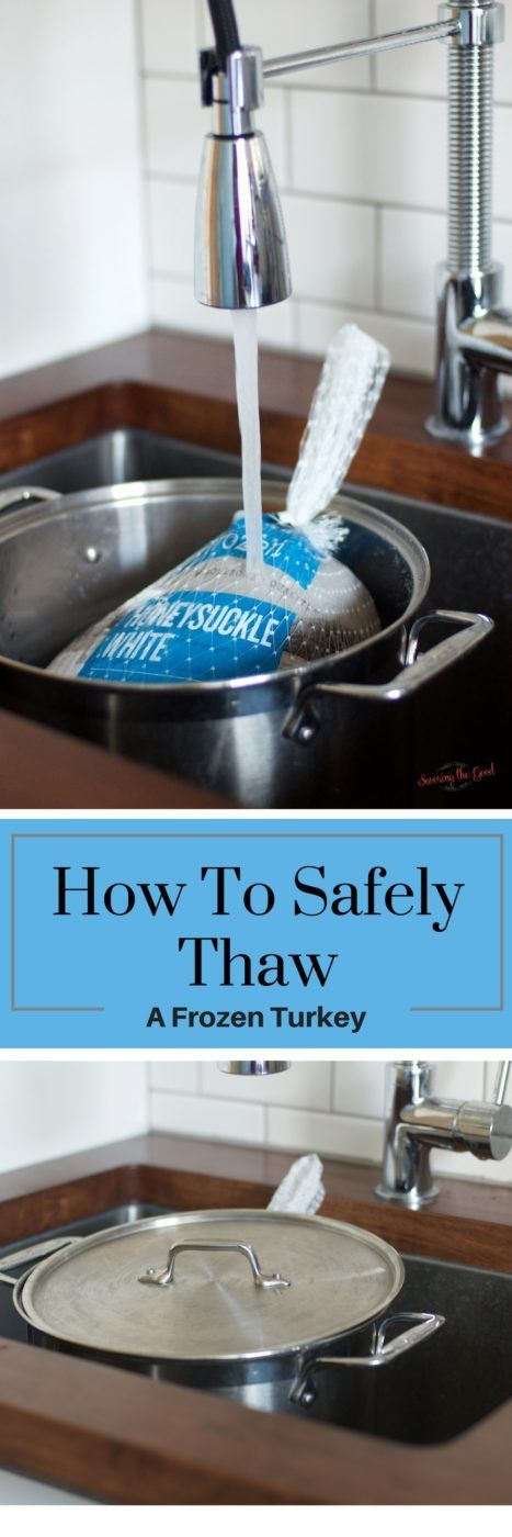 Here are my simple tips on how to easily thaw your Thanksgiving turkey using the cold water method. It is very important to safely thaw a frozen turkey. Nothing will make a Thanksgiving meal take a turn for the worse than a turkey that has not been thawed