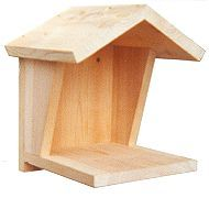 DIY Nest Shelf for Mourning Doves, Robins, BlueJays, Phoebes - Print Free Woodworking Plans & Dimensions