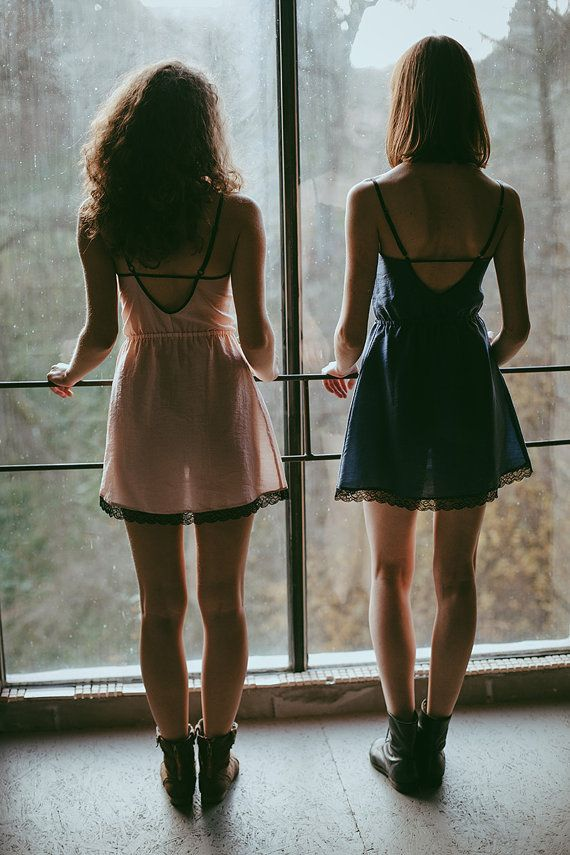 Our lace nighties in navy blue and powder pink. For dreamers only.  Dreamy photography by Anita Suchocka