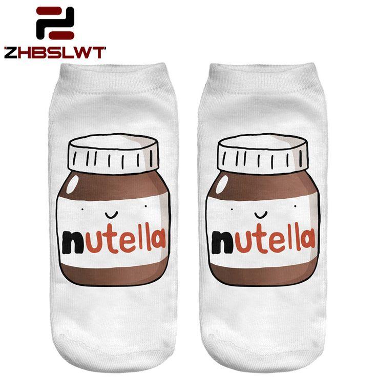 ZHBSLWT Fashion 3D Printed Women Socks White Peanut Butter Bottle Women Unisex Cute Low Cut Ankle Socks Casual