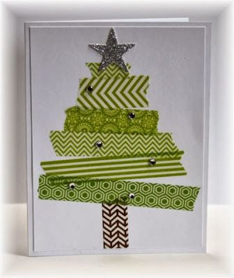 neat tree with washi tape