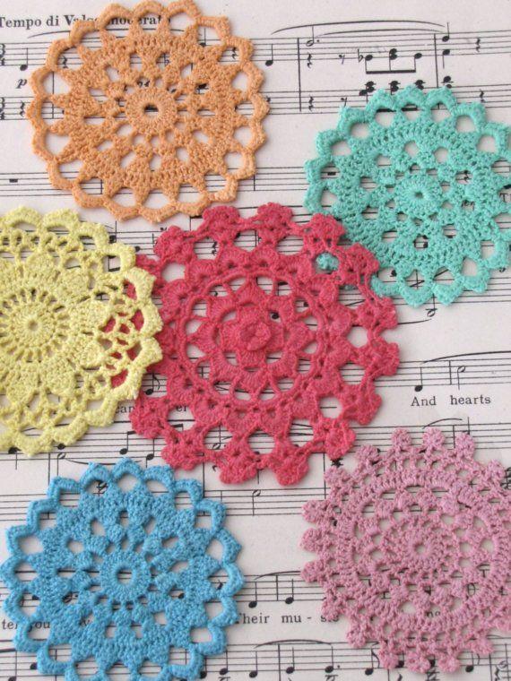 Crochet Doily Embellishments   Flower Power