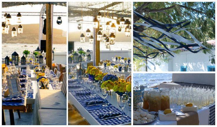 White & blue plaid Wedding