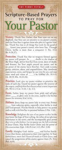 Scripture-Based Prayers to Pray for Your Pastor 50-pack  Price : $9.99 http://www.navpress.com/Scripture-Based-Prayers-Pray-Pastor-50-pack/dp/1576839060