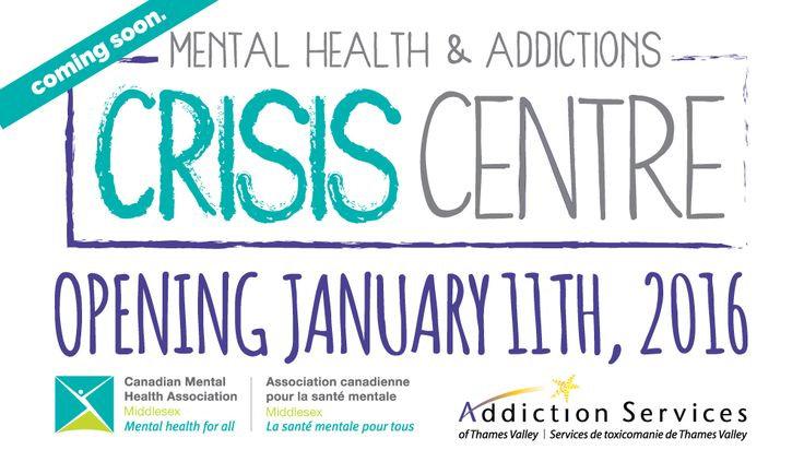 The Mental Health & Addictions Crisis Centre officially opens today for 24/7 walk in crisis support. 648 Huron St, London, Ontario