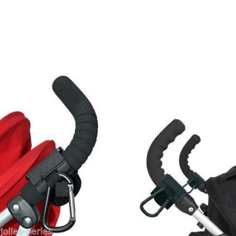 JP 1PC Black Strong Hook Clip Bag Pram Stroller Baby Buggy Hanger Shopping