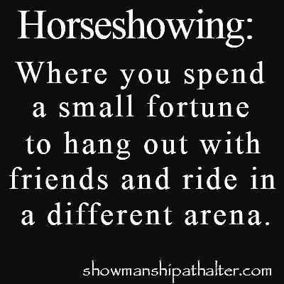 Horseshowing http://showmanshipathalter.com/