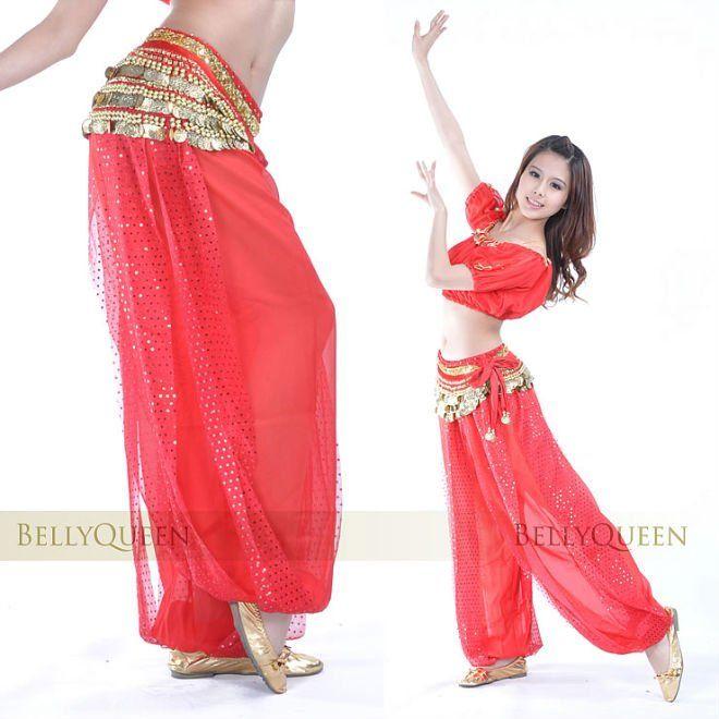 Rojo pantalones danza del vientre