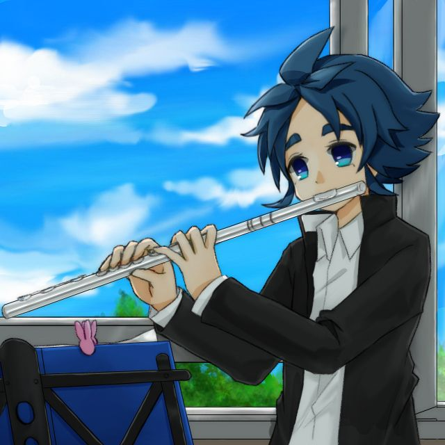 Tags: Anime, Flute, Inazuma Eleven, Inazuma Eleven GO, Yukimura Hyouga, Pixiv Id 1643197