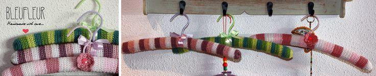 Perchas forradas a crochet