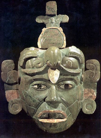 Maya Mask, jade - http://www.latinamericanstudies.org/maya/jade-mask.jpg