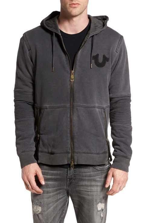 True Religion Brand Jeans 'Moto' Zip Hoodie
