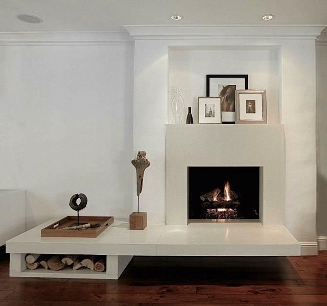 Above: Michelini Integrates A Modern Fireplace Into A Wall With Traditional  Molding, Adding A
