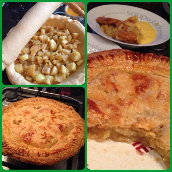 Amazing Apple Pie - Jamie Oliver recipe - rough puff pastry made in Kitchen Aid