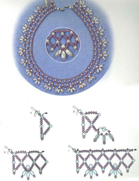This is an easy pattern that makes a nice necklace. Easy is what I need :)