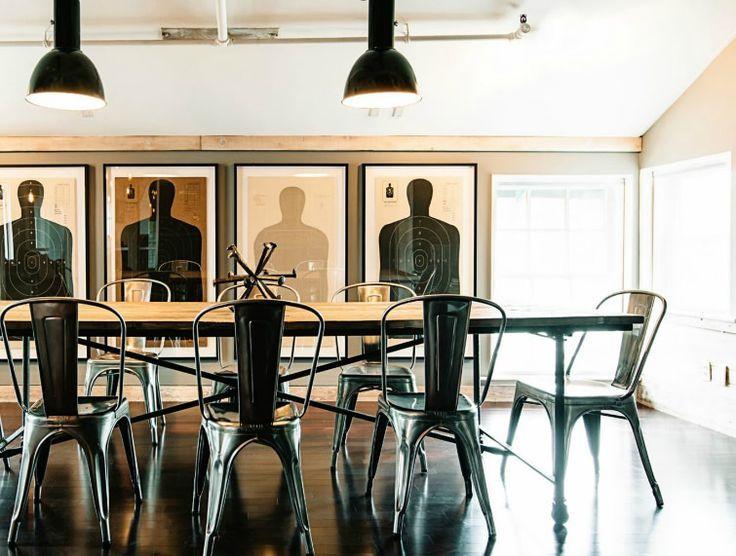 Que tal un look industrial, moderno y ejecutivo para tu sala de juntas? #Lasddi