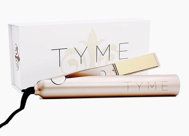 TYME Iron Gold Titanium Hair Straightener Curling | eBay