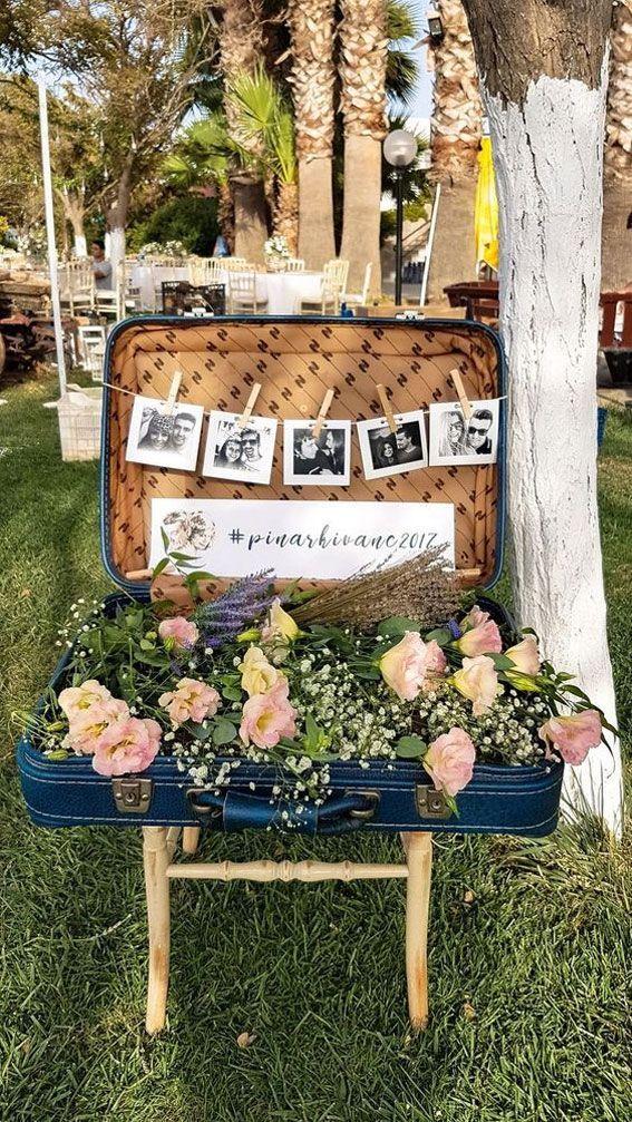 Creative Wedding Photo Display Ideas Diy Wedding Decorations