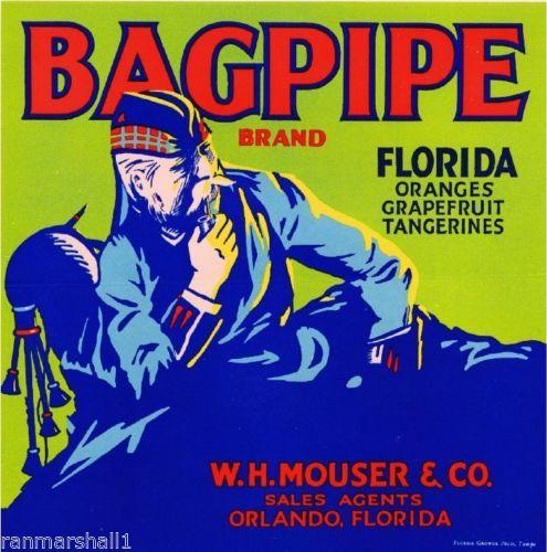 Orlando-Florida-Bagpipe-Scottish-Irish-Orange-Citrus-Fruit-Crate-Label-Art-Print