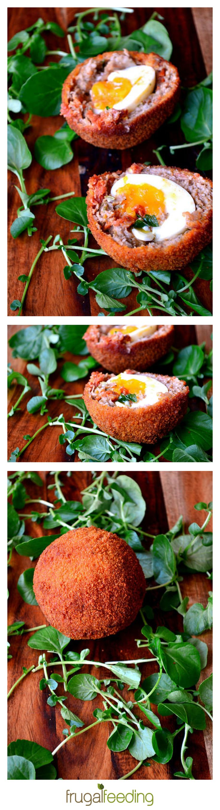 Chorizo and Fennel Scotch Eggs – Admit it; you've always wanted to make your own homemade scotch eggs. Flavoured with paprika-infused chorizo and a hint of fennel, these may be the best you've ever tasted. The most important bit? A perfectly cooked egg; cooked to perfection for a golden centre.