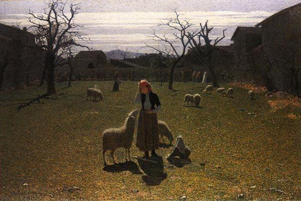 Pellizza da Volpedo, SPERANZE DELUSE, 1894, olio su tela, cm. 110x170, Como, collezione privata