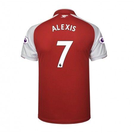 Arsenal Alexis Sanchez 7 Hjemmebanetrøje 17-18 Kort ærmer