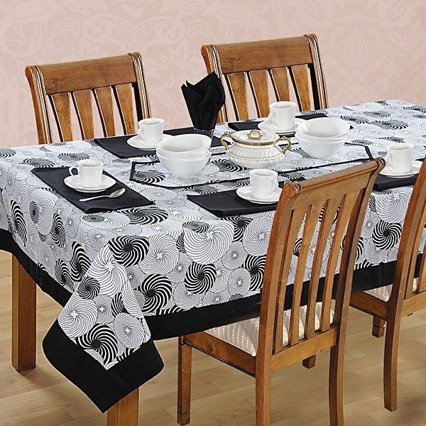 Hypnosis printed Rectangular Table Linen-5005