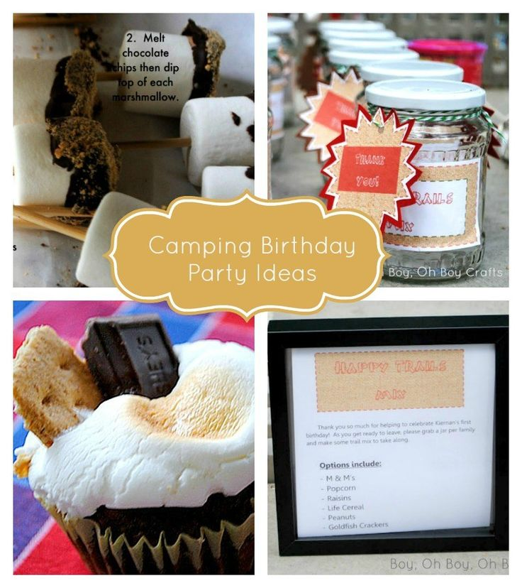Free camping birthday party supplies and party ideas!