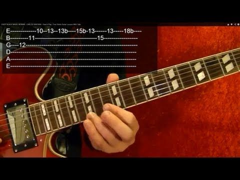 ▶ EASY! BLACK MAGIC WOMAN - CARLOS SANTANA - How to Play - Free Online Guitar Lessons With Tabs - YouTube