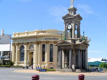 Invercargill War Memorial where Dad and his buddies used to sit under the clock on the top level.