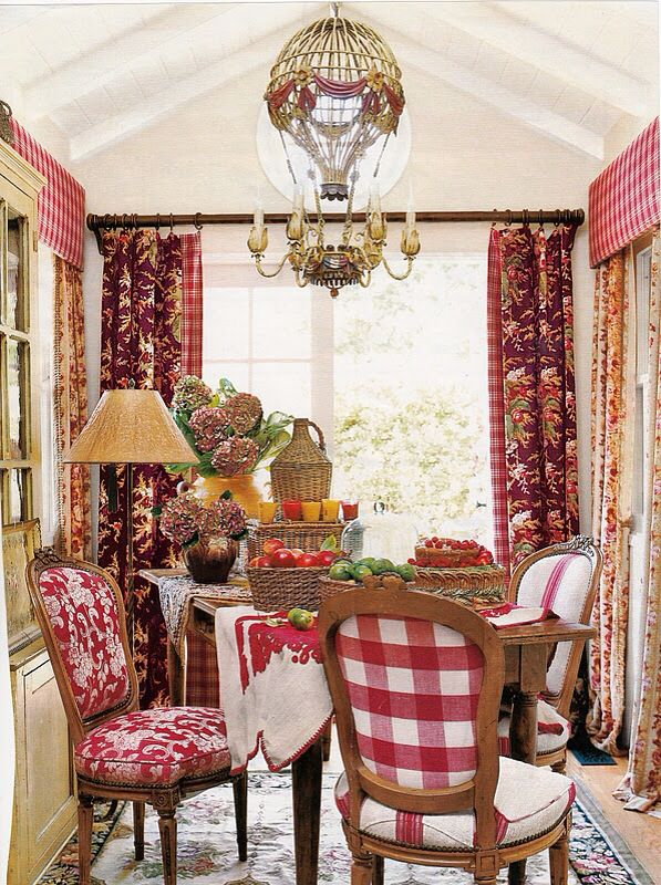 Dining room with hanging  hot air balloon chandelier light