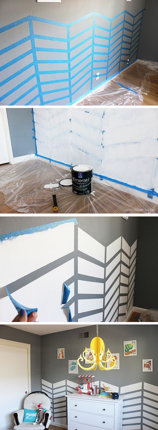 How to paint a fun chevron pattern on your walls | Live Colorful
