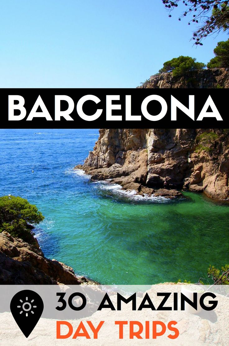 Find out 30 of the best day trips outside Barcelona to escape city life!  Check out the best beaches, parks, villages and other getaways in Catalonia! #barcelona #catalonia #catalunya @visitcatalonia