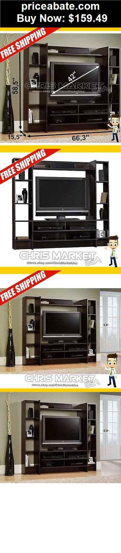 Furniture: Cherry Home Entertainment Furniture Cabinet TV Stand Center Wood Storage  - BUY IT NOW ONLY $159.49