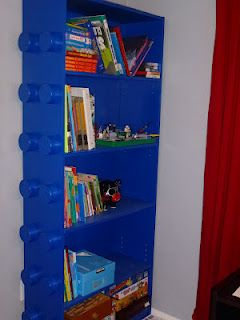 Lego Book Shelf--Kids love it for their room