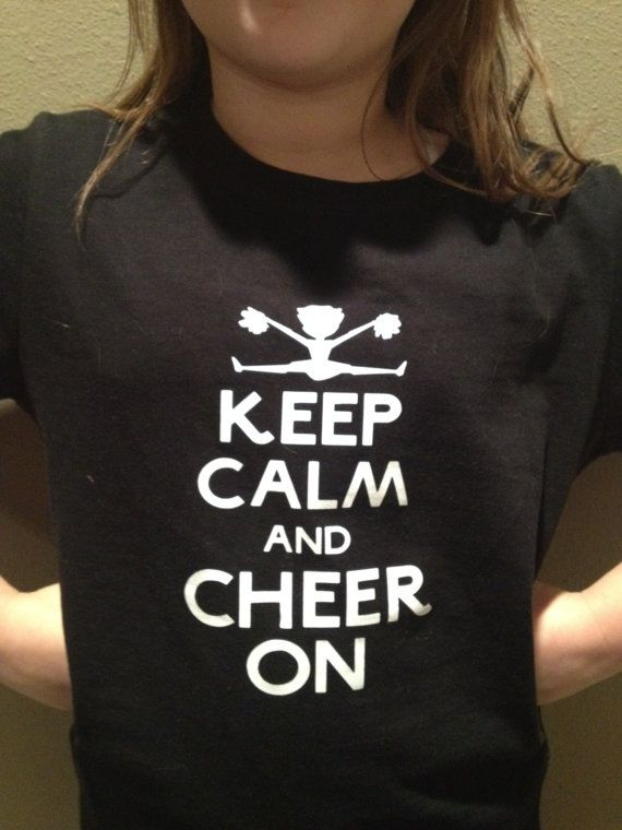 Keep calm cheer shirt  tshirt by YourVinyl on Etsy, $15.00
