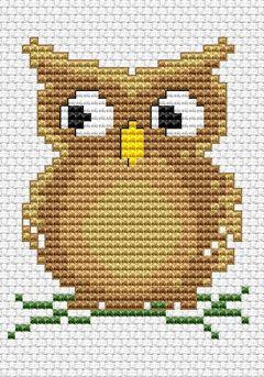 Cute Owl free cross stitch pattern