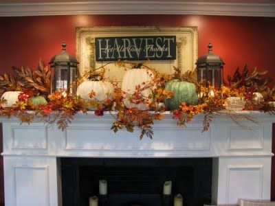 Autumn DELIGHT for the mantel!